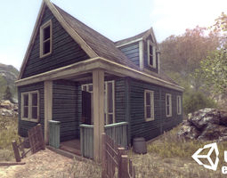 realtime 3d model abandoned houses 01 - enterable