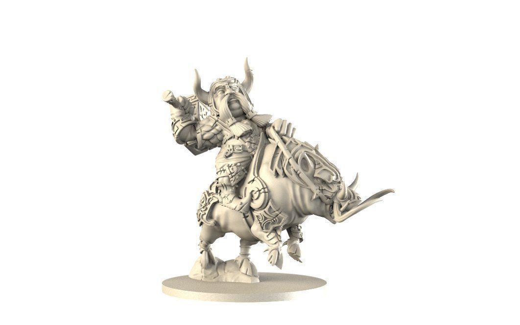 dwarf on battle boar