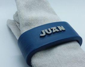 JUAN napkin ring with lauburu 3D printable model