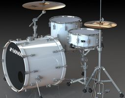 Sonor Drum Kit 3D model