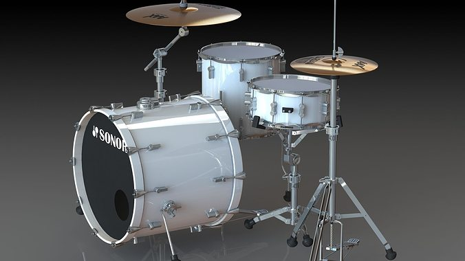Sonor Drum Kit 3d Cgtrader
