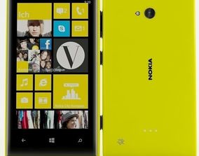 3D Nokia lumia 720 Yellow