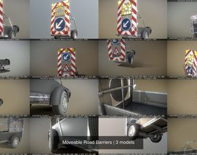 3D model Moveable Road Barriers