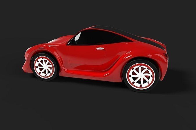 the concept sportscar 3d model obj mtl fbx ige igs iges stp f3d bip 1