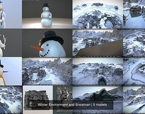 3D Winter Environment and Snowman