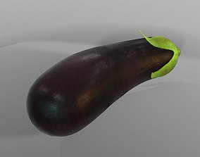 3D model game-ready Eggplant