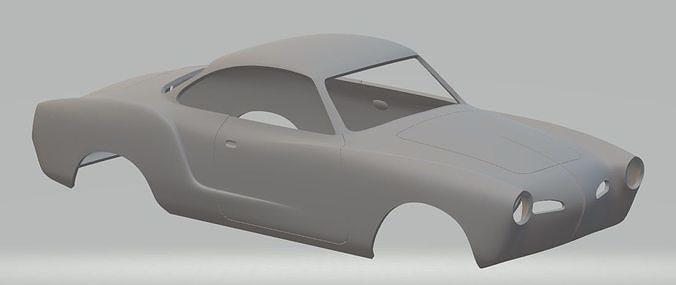 volkswagen karman ghia printable body car 3d model max stl 1