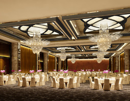 photo real wedding hall 3D Model