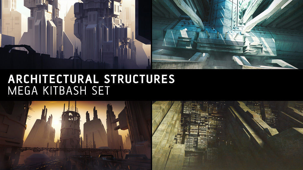 Architectural Structures Kitbash Set
