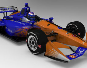 Indycar 2018 Dallara DW12 Team Chip Ganassi 3D model