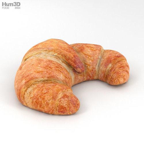 croissant 3d model max obj mtl 3ds fbx c4d lwo lw lws 1