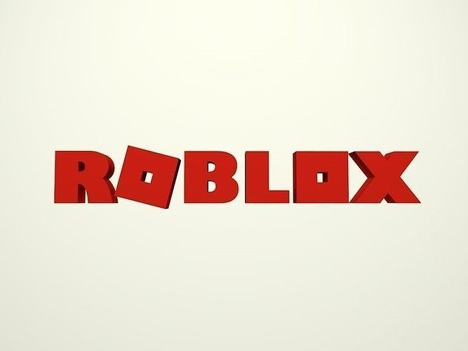 3d Asset Cartoon Roblox Logo Cgtrader