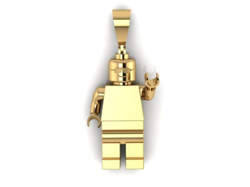 image relating to Lego Man Printable identify Lego Guy pendant 3D Print Type