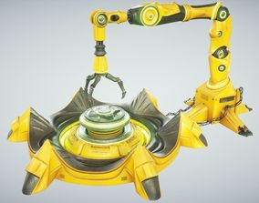 3D model Sci Fi Industrial Robot