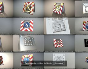 3D fahrbahre-absperrtafel Road Barriers - Simple Version