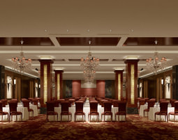 3d model hall for big celebrations photoreal