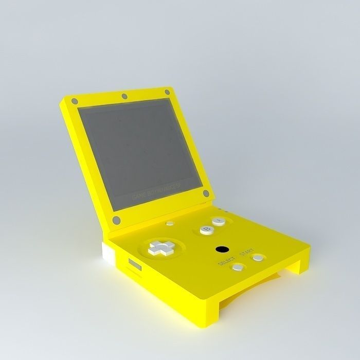 3D model Game Boy Advance SP Gold edition | CGTrader