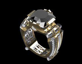 3D printable model Ring Men Black Dimond