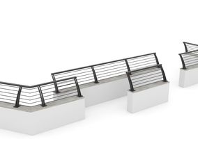 3D Metal Garden Fence and Walls