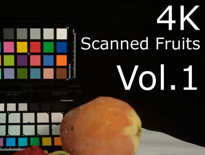 4k scanned fruits vol 1 3d model fbx unitypackage prefab uasset 1