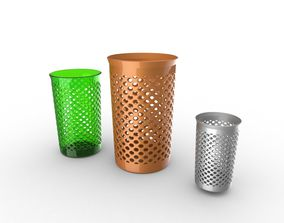 Fancy trash can 3D