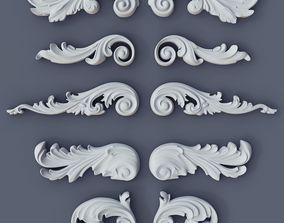 3D printable model Baroque Volutes pack 2