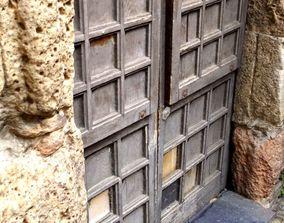 3D model Photorealistic Medieval old wooden door 2
