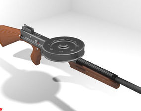 Submachine Gun - American 180 3D model