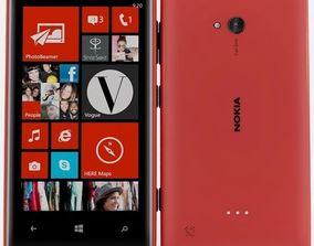 Nokia lumia 720 Red 3D