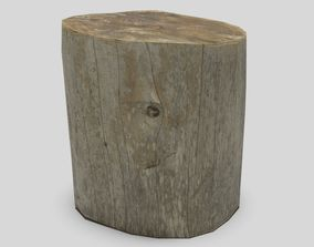 3D asset game-ready Tree Stump