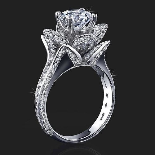 Beauty And The Beast Engagement Rings 3d Printable Model 1