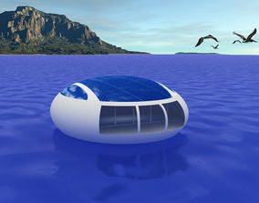 Floating House 3D asset