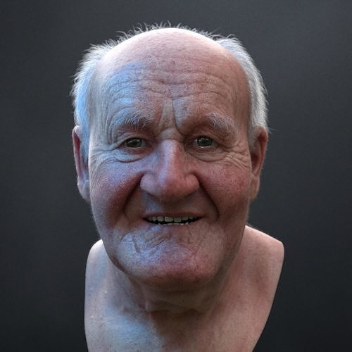 3D Ultra realistic old man HEAD   3D model