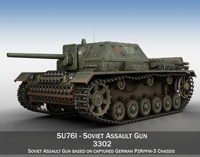 SU-76i - Soviet Assault gun - 3302 3D