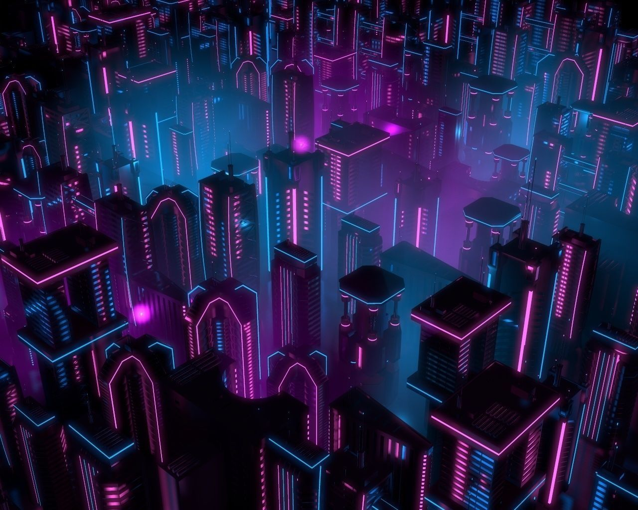 Neon Buildings