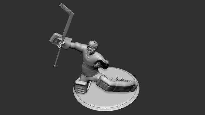 hockey player goalie collectible figure statue 3d print pose 09 3d model obj mtl stl 1