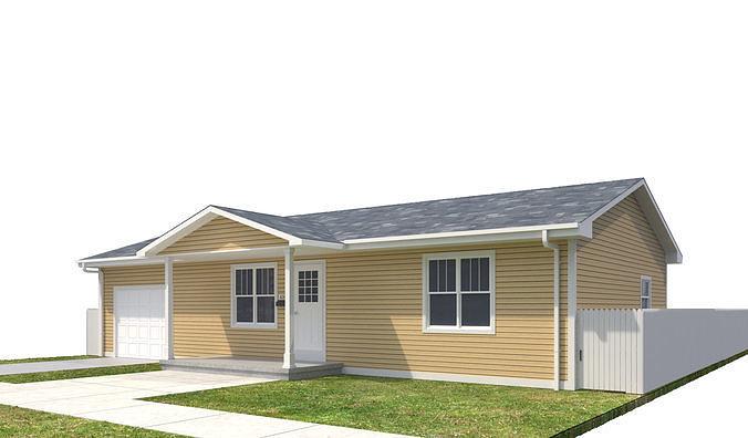 house-052 3d model max obj mtl 3ds fbx dwg 1