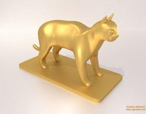 miniature 3D print model Cat Sculpture