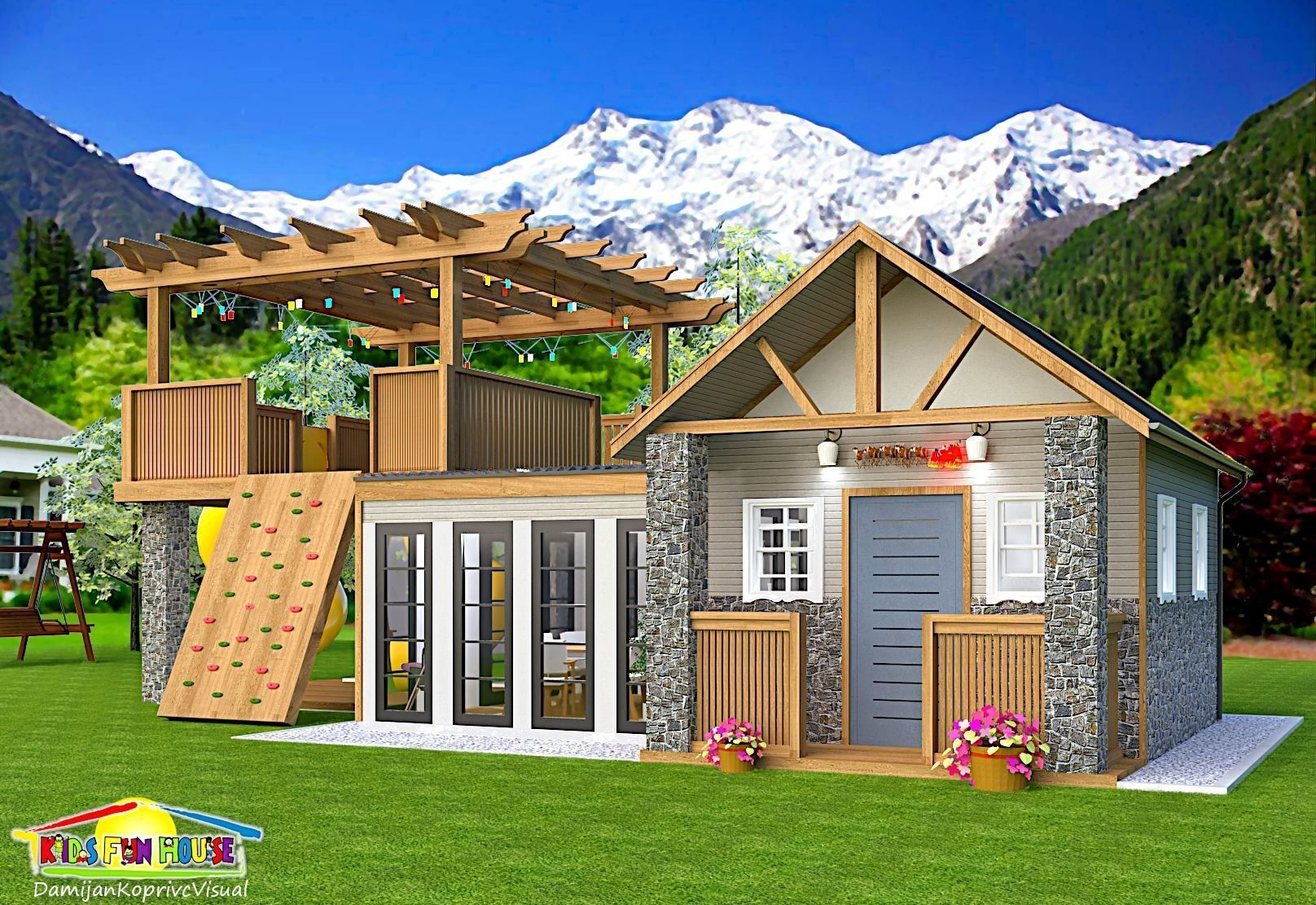 kids play and fun house | 3D model