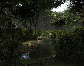 3D model Shady brook in Blender