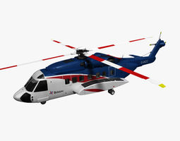 Sikorsky S-92 Bristow 3D Model
