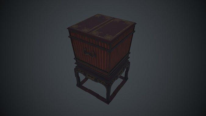 ancient oriental  container 3d model low-poly fbx tga 1