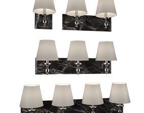3D Vanity lights by FEISS black carrara