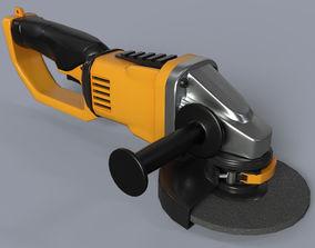 Angle Grinder no brand 3D model