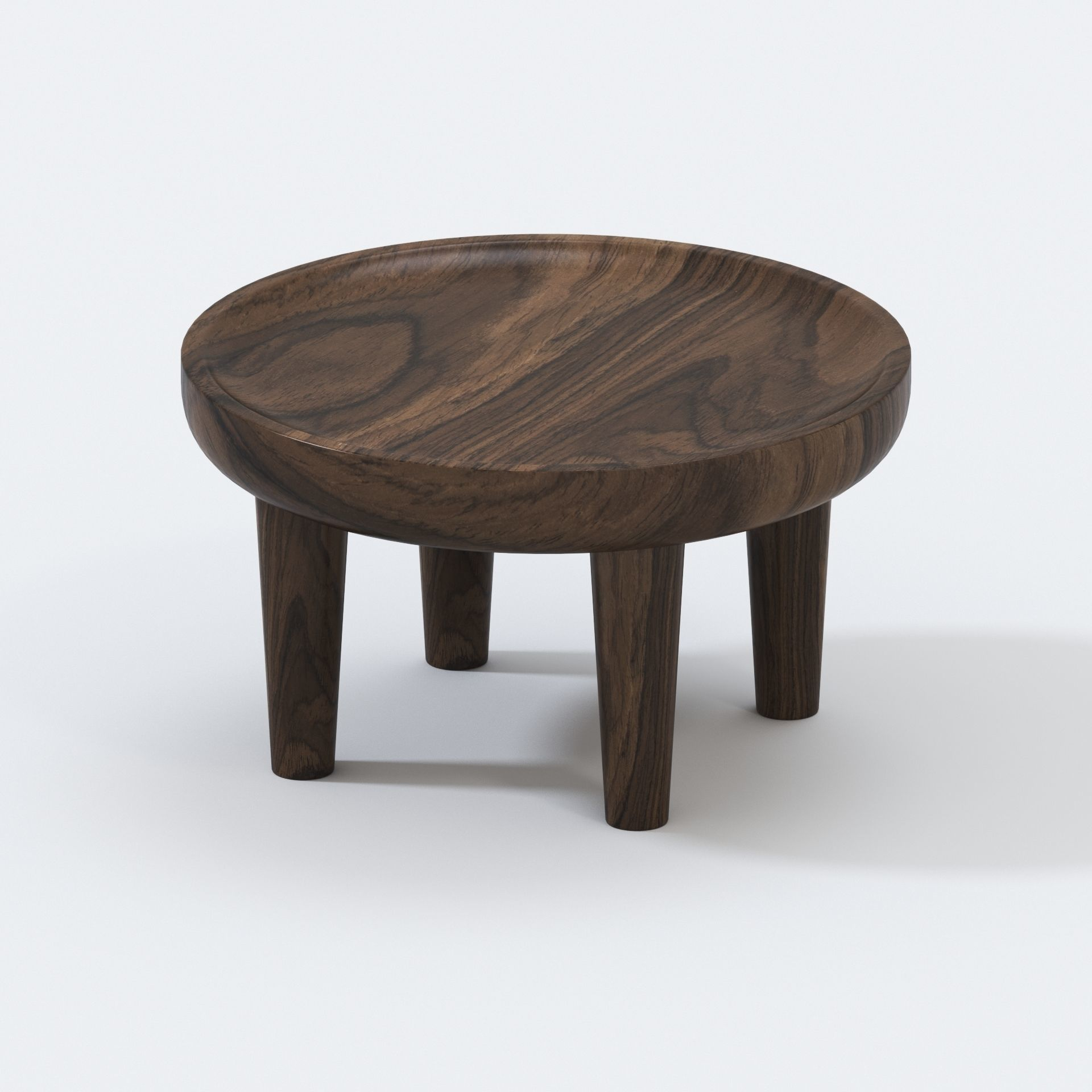 Picture of: African Safari Teak Side Table 3d Model Cgtrader