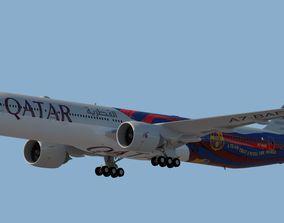 3D model QATAR AIRWAYS A330-300 BARCELONA FC