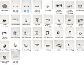 3D Holiday hotel furniture