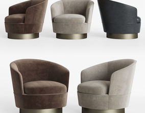 Minotti Jacques Low Armchair Fixed 3D