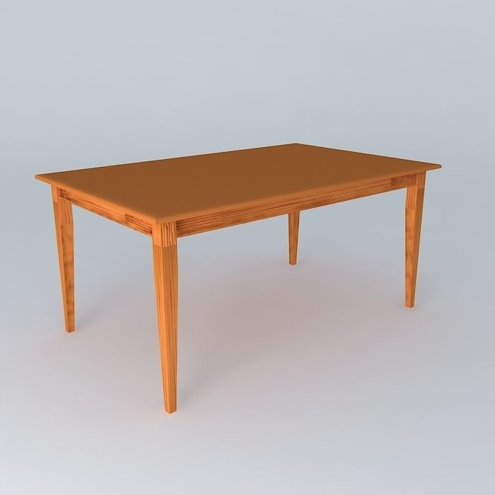 Dining table free 3d model max obj 3ds fbx stl dae for New model dining table