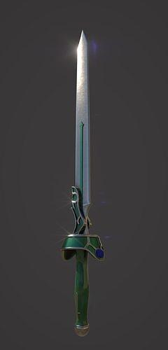 japanese animation sao asuna - weapon flashing light 3d model max obj mtl 3ds fbx tbscene tbmat 1